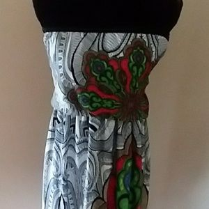 bc74bc6b887 Windsor Dresses - Bohemian Print Tube Top Maxi Dress Small